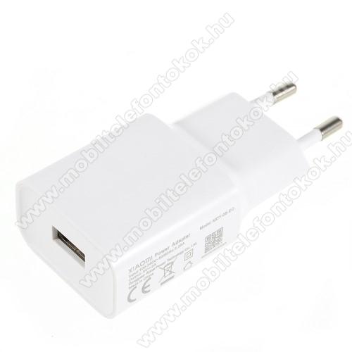 ALCATEL 7XIAOMI OEM hálózati töltő - 1 x USB aljzat, 5.0V / 2A - FEHÉR - MDY-08-EO - GYÁRI