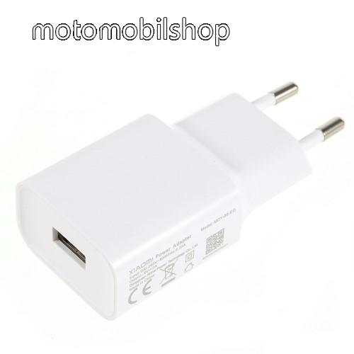 MOTOROLA Moto E5 Plus (2018) XIAOMI OEM hálózati töltő - 1 x USB aljzat, 5.0V / 2A - FEHÉR - MDY-08-EO - GYÁRI