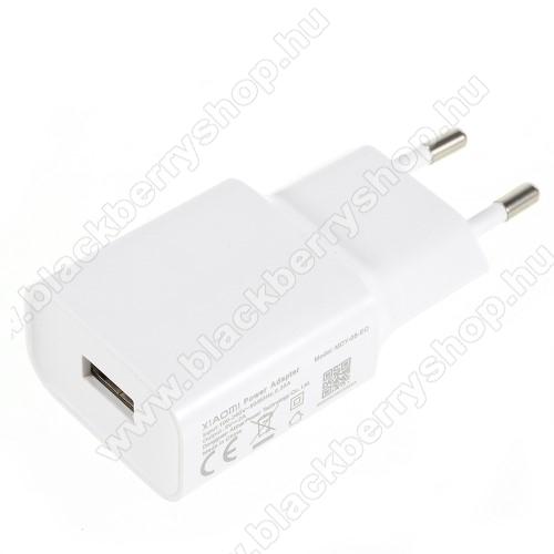 BLACKBERRY PlayBookXIAOMI OEM hálózati töltő - 1 x USB aljzat, 5.0V / 2A - FEHÉR - MDY-08-EO - GYÁRI