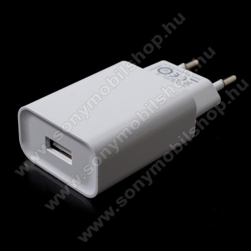 SONY Xperia 10 (2019)XIAOMI OEM hálózati töltő - 1 x USB aljzat, Quick Charge 3.0 gyors töltés támogatás, 5V/3A; 9V/2A, 12V/1.5A - FEHÉR - MDY-08-DF - GYÁRI