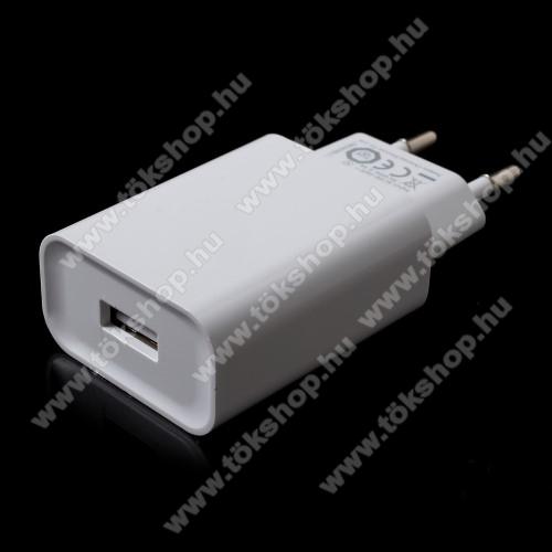 Vodafone Tab Prime 6XIAOMI OEM hálózati töltő - 1 x USB aljzat, gyors töltés támogatás, 5V/2A  - FEHÉR - MDY-08-DF - GYÁRI
