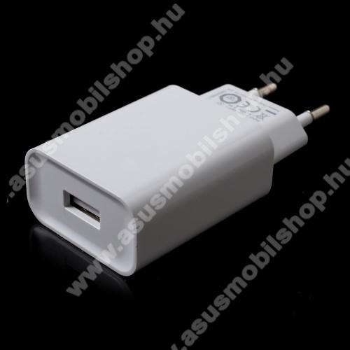 ASUS Zenfone C (ZC451CG)XIAOMI OEM hálózati töltő - 1 x USB aljzat, Quick Charge 3.0 gyors töltés támogatás, 5V/3A; 9V/2A, 12V/1.5A - FEHÉR - MDY-08-DF - GYÁRI