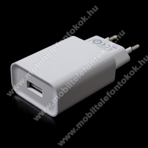BLACKBERRY KEY2 LEXIAOMI OEM hálózati töltő - 1 x USB aljzat, Quick Charge 3.0 gyors töltés támogatás, 5V/3A; 9V/2A, 12V/1.5A - FEHÉR - MDY-08-DF - GYÁRI