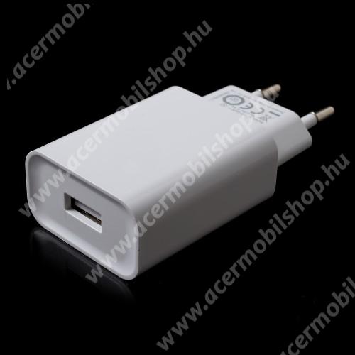ACER Liquid X2 XIAOMI OEM hálózati töltő - 1 x USB aljzat, Quick Charge 3.0 gyors töltés támogatás, 5V/3A; 9V/2A, 12V/1.5A - FEHÉR - MDY-08-DF - GYÁRI