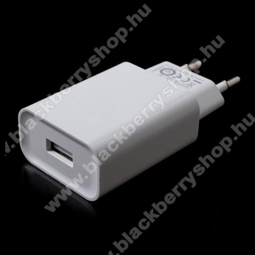 BLACKBERRY Z30XIAOMI OEM hálózati töltő - 1 x USB aljzat, Quick Charge 3.0 gyors töltés támogatás, 5V/3A; 9V/2A, 12V/1.5A - FEHÉR - MDY-08-DF - GYÁRI