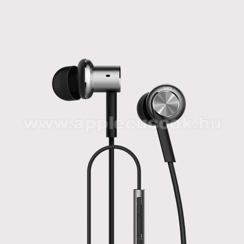 XIAOMI Piston Iron Dynamic SZTEREO HEADSET /James bond - 3,5 mm aranyozott jack, felvev? gomb - FEKETE - GY�RI