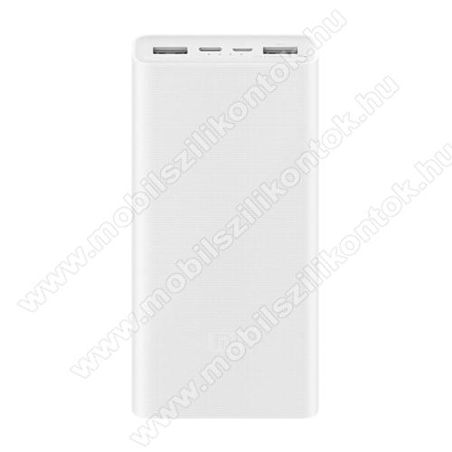 XIAOMI PLM18ZM Power Bank hordozható töltő / vésztöltő - 20000mAh, Type-C be/kimenet, Quick Charge, 5V / 2.4A; 9V / 2A; 12V / 1.5A; 18W MAX - FEHÉR - GYÁRI