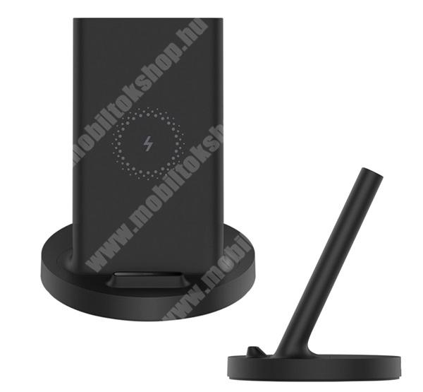 LG G4c (H525N) XIAOMI QI Wireless hálózati töltő állomás vezeték nélküli töltéshez - 20W, gyorstöltés támogatás, asztali tartó, fogadóegység nélkül! - FEKETE - WPC02ZM - GYÁRI