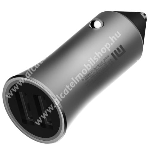 ALCATEL Go Play - 7048X Xiaomi szivargyújtós töltő / autós töltő - 2db USB aljzat, LED, 18W, 1 port: 5V/2.4A; 9V/2A; 12V/1.5A, 2 port egyszerre: 5V/2.4A, 15W(max!) - EZÜST - CC05ZM - GYÁRI
