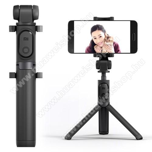 HUAWEI P8 Lite (2017)XIAOMI tripod állvány és Selfie bot - Beépített Bluetooth kioldóval, 360 fokban forgatható bölcső, 56-89mm-ig állítható - FEKETE