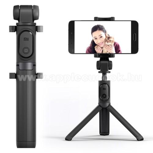 XIAOMI tripod állvány és Selfie bot - Beépített Bluetooth kioldóval, 360 fokban forgatható bölcső, 56-89mm-ig állítható - FEKETE