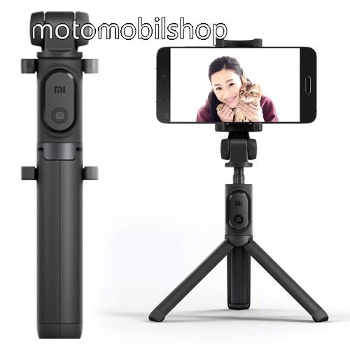 MOTOROLA MPX100 XIAOMI tripod állvány és Selfie bot - Beépített Bluetooth kioldóval, 360 fokban forgatható bölcső, 56-89mm-ig állítható - FEKETE