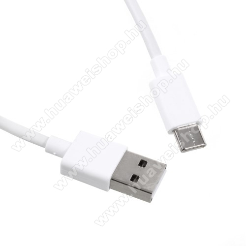 HUAWEI Honor V8Xiaomi Type-C  adatátvieli kábel / töltő kábel - 1m - FEHÉR - GYÁRI