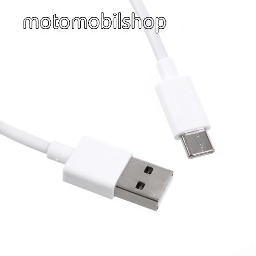MOTOROLA One (P30 Play) Xiaomi Type-C  adatátvieli kábel / töltő kábel - 1m - FEHÉR - GYÁRI