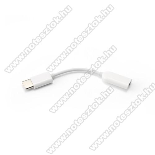 NOKIA 7.1XIAOMI USB Type-C / 3,5mm Jack audio adapter kábel - FEHÉR - GYÁRI