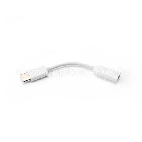 APPLE iPad Pro 11 (2018)XIAOMI USB Type-C / 3,5mm Jack audio adapter kábel - FEHÉR - GYÁRI