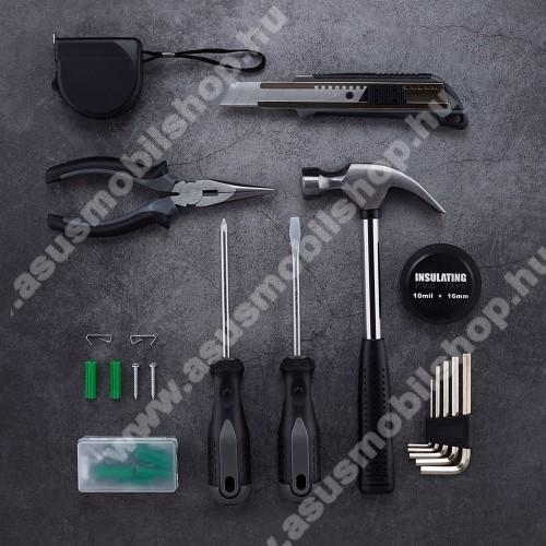 ASUS Zenfone 2 Laser (ZE500KL)XIAOMI YOUPIN JIUXUN 12 in 1 szerszámkészlet - kalapács, mérőszalag, imbuszkulcs, kés, fogó, csavarhúzó stb, hordozható dobozzal, 276 x 203 x 73mm - GYÁRI