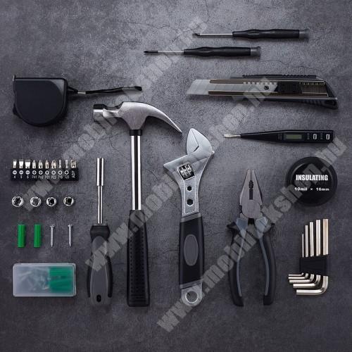 ALCATEL A30 XIAOMI YOUPIN JIUXUN 60 in 1 szerszámkészlet - kalapács, mérőszalag, imbuszkulcs, fogó, kés, csavarhúzó stb, hordozható dobozzal, 285 x 222 x 77mm - GYÁRI