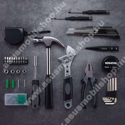 ASUS Zenfone 2 Laser (ZE500KL)XIAOMI YOUPIN JIUXUN 60 in 1 szerszámkészlet - kalapács, mérőszalag, imbuszkulcs, fogó, kés, csavarhúzó stb, hordozható dobozzal, 285 x 222 x 77mm - GYÁRI