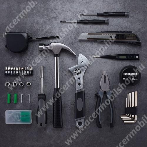 ACER Liquid Z3 XIAOMI YOUPIN JIUXUN 60 in 1 szerszámkészlet - kalapács, mérőszalag, imbuszkulcs, fogó, kés, csavarhúzó stb, hordozható dobozzal, 285 x 222 x 77mm - GYÁRI