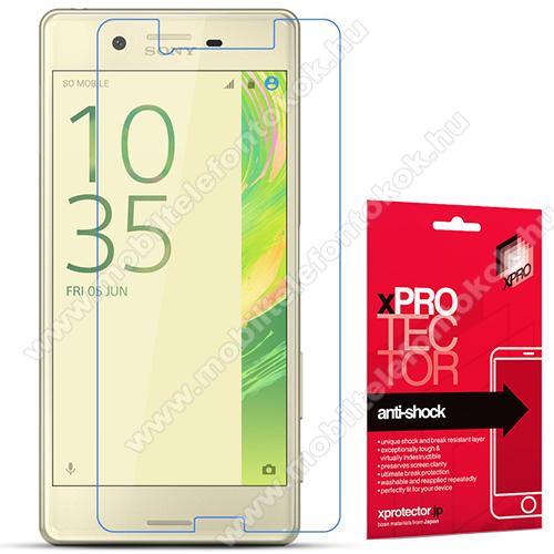 Xpro Anti Shock Flexible rugalmas előlap védő karcálló edzett üveg - 9H, Arc Edge, A képernyő sík részét védi -  Sony Xperia X Performance / Sony Xperia X - GYÁRI