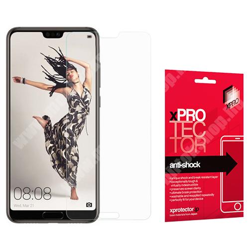 Xpro Anti Shock Flexible rugalmas előlap védő karcálló edzett üveg - 9H, Arc Edge, A képernyő sík részét védi - HUAWEI P20 Pro (2018) - GYÁRI
