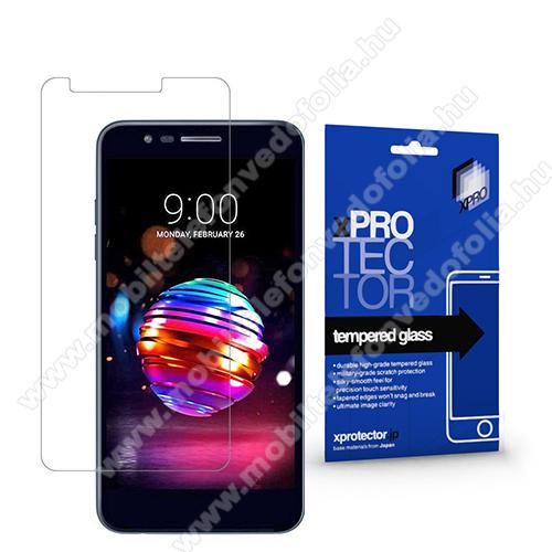 Xpro előlap védő karcálló edzett üveg - 0,33 mm vékony, 9H, Arc Edge, A képernyő sík részét védi - LG K30 (2019)