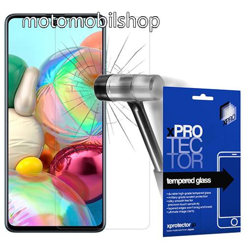 Xpro előlap védő karcálló edzett üveg - 0,33 mm vékony, 9H, Arc Edge, A képernyő sík részét védi - SAMSUNG Galaxy A51 (SM-A515F) / SAMSUNG Galaxy A51 5G (SM-A516F) - GYÁRI