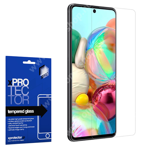 Xpro előlap védő karcálló edzett üveg - 0,33 mm vékony, 9H, Arc Edge, A képernyő sík részét védi - SAMSUNG SM-A715F Galaxy A71 - GYÁRI