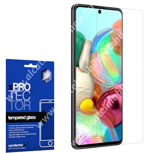 Xpro előlap védő karcálló edzett üveg - 0,33 mm vékony, 9H, Arc Edge, A képernyő sík részét védi - SAMSUNG Galaxy Note10 Lite (SM-N770F) / SAMSUNG Galaxy A71 (SM-A715F) / SAMSUNG Galaxy A71 5G (SM-A716F) - GYÁRI