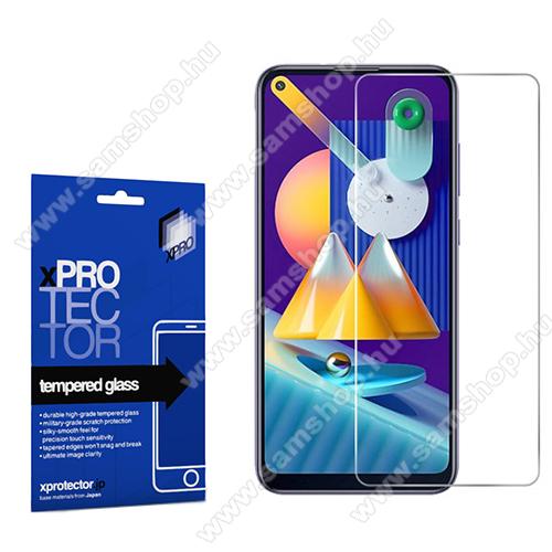 Xpro előlap védő karcálló edzett üveg - 0,33 mm vékony, 9H, Arc Edge, A képernyő sík részét védi - SAMSUNG SM-M115F Galaxy M11 / SAMSUNG SM-A115F Galaxy A11 - GYÁRI