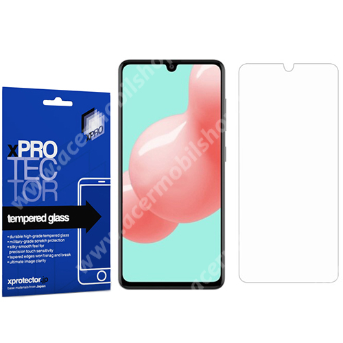 Xpro előlap védő karcálló edzett üveg - 0,33 mm vékony, 9H, Arc Edge, A képernyő sík részét védi - SAMSUNG Galaxy A41 (SM-A415F) - GYÁRI