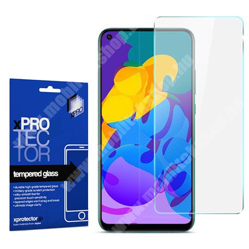 Xpro előlap védő karcálló edzett üveg - 0,33 mm vékony, 9H, Arc Edge, A képernyő sík részét védi - HUAWEI P40 Lite E / HUAWEI Y7p / Honor 9C - GYÁRI