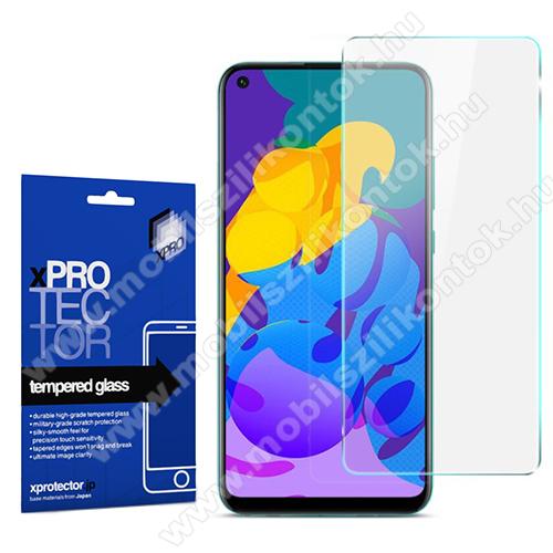 Xpro előlap védő karcálló edzett üveg - 0,33 mm vékony, 9H, Arc Edge, A képernyő sík részét védi - HUAWEI P40 Lite E / HUAWEI  Y7p - GYÁRI