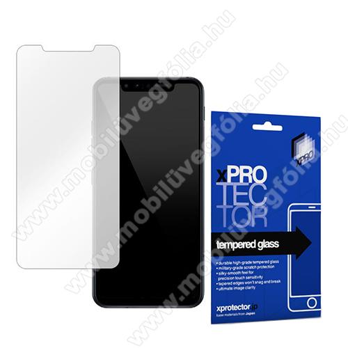 Xpro előlap védő karcálló edzett üveg - 0,33 mm vékony, 9H, Arc Edge, A képernyő sík részét védi - LG G8s ThinQ - GYÁRI