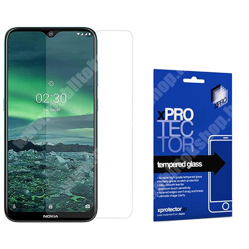 Xpro előlap védő karcálló edzett üveg - 0,33 mm vékony, 9H, Arc Edge, A képernyő sík részét védi - NOKIA 2.3 - GYÁRI