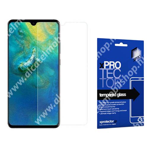 Xpro előlap védő karcálló edzett üveg - 0,33 mm vékony, 9H, Arc Edge, A képernyő sík részét védi - HUAWEI Mate 20 X / HUAWEI Mate 20 X 5G - GYÁRI