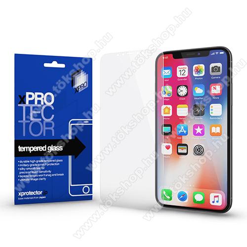 Xpro előlap védő karcálló edzett üveg - 0,33 mm vékony, 9H, Arc Edge, A képernyő sík részét védi - APPLE iPhone 11 Pro / APPLE iPhone X / APPLE iPhone XS - GYÁRI