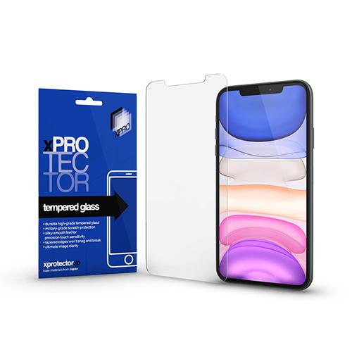 Xpro előlap védő karcálló edzett üveg - 0,33 mm vékony, 9H, Arc Edge, A képernyő sík részét védi - APPLE iPhone 11 Pro Max / APPLE iPhone XS Max - GYÁRI