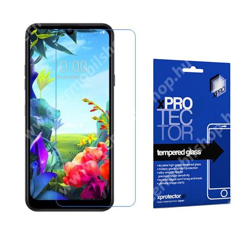 Xpro előlap védő karcálló edzett üveg - 0,33 mm vékony, 9H, Arc Edge, A képernyő sík részét védi - LG K40S (2019) - GYÁRI
