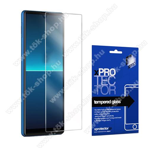 Xpro előlap védő karcálló edzett üveg - 0,33 mm vékony, 9H, Arc Edge, A képernyő sík részét védi - SONY Xperia L4 - GYÁRI