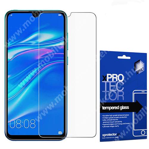 Xpro előlap védő karcálló edzett üveg - 0,33 mm vékony, 9H, Arc Edge, A képernyő sík részét védi - HUAWEI Y6 (2019) / Y6 Prime (2019) / Y6 Pro (2019) / Honor Play 8A / Honor 8A / Y6s (2019) - GYÁRI