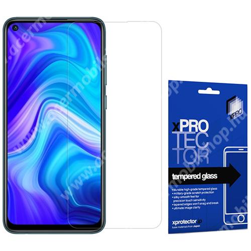 Xpro előlap védő karcálló edzett üveg - 0,33 mm vékony, 9H, Arc Edge, A képernyő sík részét védi - Xiaomi Redmi Note 9 / Xiaomi Redmi 10X 4G - GYÁRI