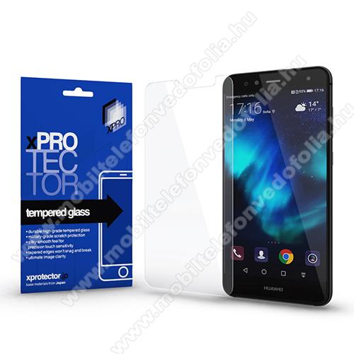 Xpro előlap védő karcálló edzett üveg - 0,33 mm vékony, 9H, Arc Edge, A képernyő sík részét védi - HUAWEI P10 Lite - GYÁRI