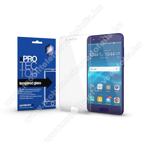Xpro előlap védő karcálló edzett üveg - 0,33 mm vékony, 9H, Arc Edge, A képernyő sík részét védi - HUAWEI Honor 9 / HUAWEI Honor 9 Premium - GYÁRI