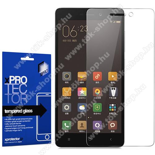 Xpro előlap védő karcálló edzett üveg - 0,33 mm vékony, 9H, Arc Edge, A képernyő sík részét védi - XIAOMI Redmi 3 / Redmi 3 Pro / Xiaomi Redmi 3s / Redmi 3s Prime / Redmi 3x - GYÁRI