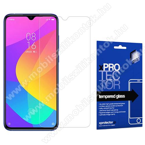 Xpro előlap védő karcálló edzett üveg - 0,33 mm vékony, 9H, Arc Edge, A képernyő sík részét védi - Xiaomi Mi CC9 / Xiaomi Mi 9 Lite - GYÁRI