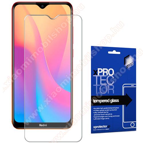 Xpro előlap védő karcálló edzett üveg - 0,33 mm vékony, 9H, Arc Edge, A képernyő sík részét védi - Xiaomi Redmi 8A / Xiaomi Redmi 8 - GYÁRI