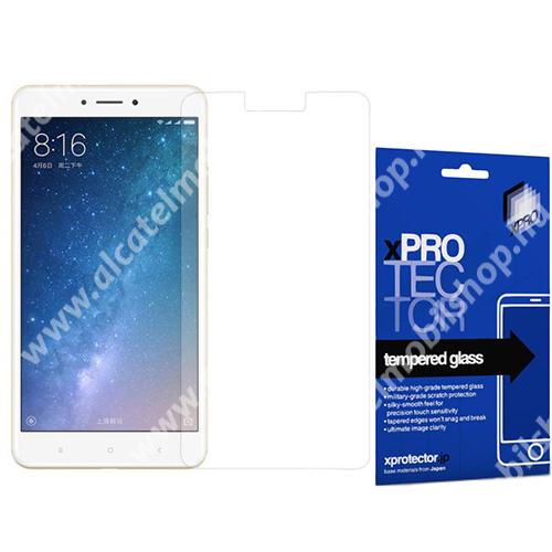Xpro előlap védő karcálló edzett üveg - 0,33 mm vékony, 9H, Arc Edge, A képernyő sík részét védi - Xiaomi Mi MAX 2 - GYÁRI