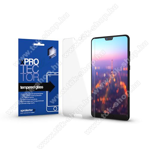 Xpro előlap védő karcálló edzett üveg - 0,33 mm vékony, 9H, Arc Edge, A képernyő sík részét védi - HUAWEI P20 Pro (2018) - GYÁRI